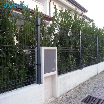 PVC coated welded 3d curved wire mesh fence