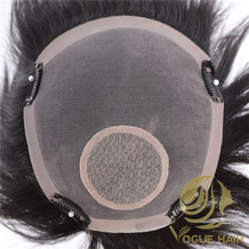 100% natural human hair toupee for men