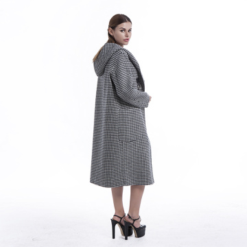 Cashmere coat winter warm jacket with Hat