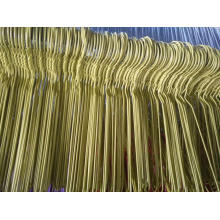 Plastic Coated Wire Hanger Yellow