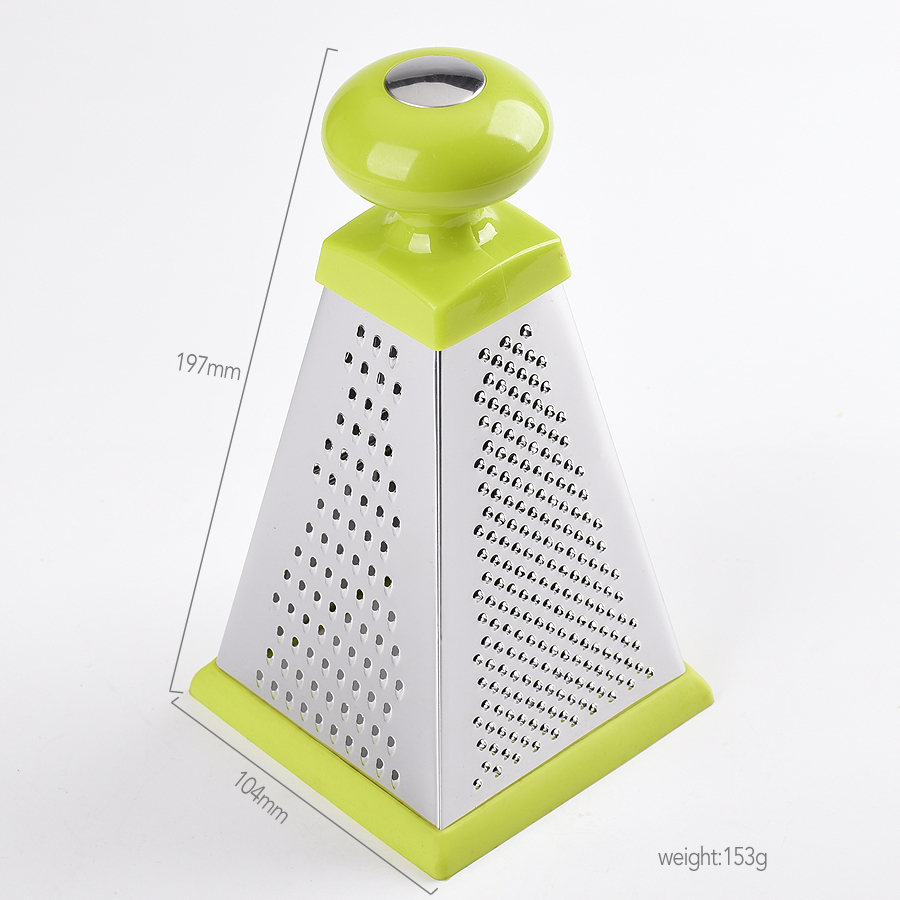 Triangular 4 functional sides stainless steel box grater