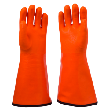 PVC Coated Gloves with gauntlet