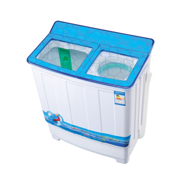 Blue Transparent Glass Cover 7.8KG Twin Tub Washing Machine
