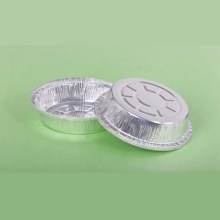 Silver Round Aluminum Foil Party Tray