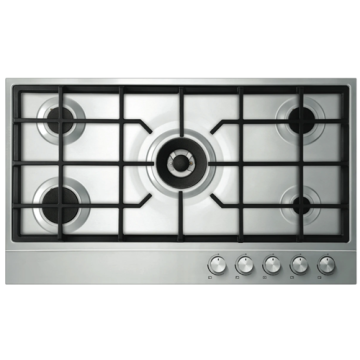 90cm Gas Cooktop Fisher Paykel Stainless Steel