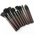 Classical woodhandle makeup brush full set