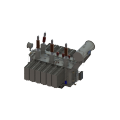 16000kVA 66kV 3-phase 2-winding Power Transformer with OLTC