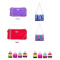 Food Grade Silicone Multicolor Keychain Clutch Bag