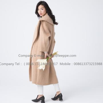 Women Cashmere Coat With Mohair