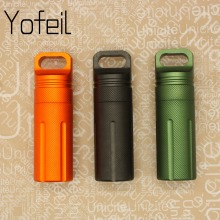 Outdoor Camping Hiking Waterproof Capsule Seal Bottle EDC Survival Case Container Holder Protect Gears Survival Emergency Tool