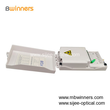 FTTH Indoor Wall Mount 8 Core Port Fiber Optic Termination Box Cable Distribution Box