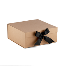 Wholesale natural magnetic brown kraft gift boxes