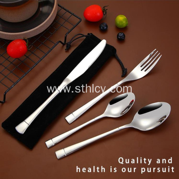 Silver Printable Logo Stainless Steel Cutlery Set