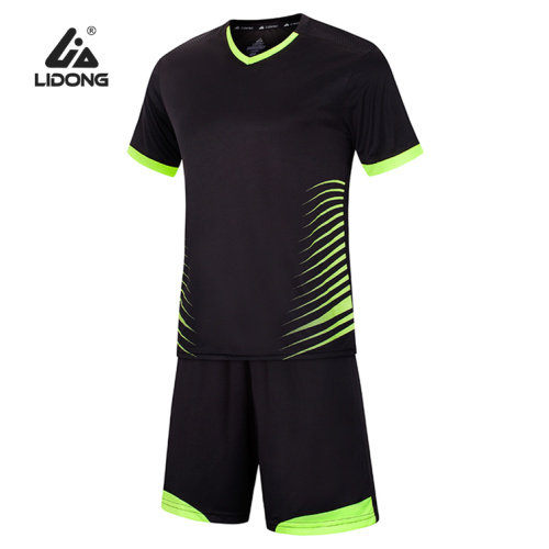 Men Soccer Sports Jersey and Shorts Set Short Sleeve Shirts