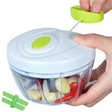 Food Chopper Manual Vegetable Cutter,Mini chopper and manual mixer with double blade