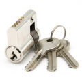 Euro Profile Brass Key Half Door Lock Cylinder