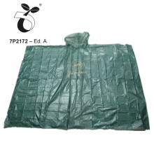 eco-friendly corn starch PLA rain poncho Biodegradable raincoat