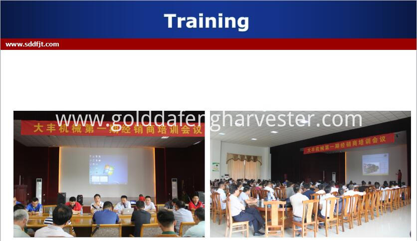 Price of automatic unloading grain rice harvester -Training