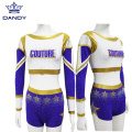 Gold crop cheerleaders uniforms