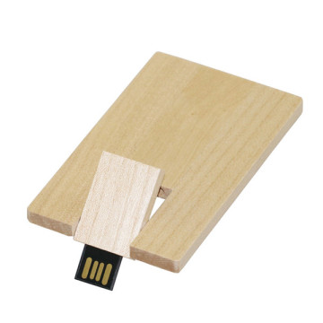 Wooden Bank Credit Card Shape Memory Stick