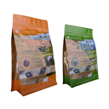 recyclable resealable ziplock pet food pouch packaging bag with zipper