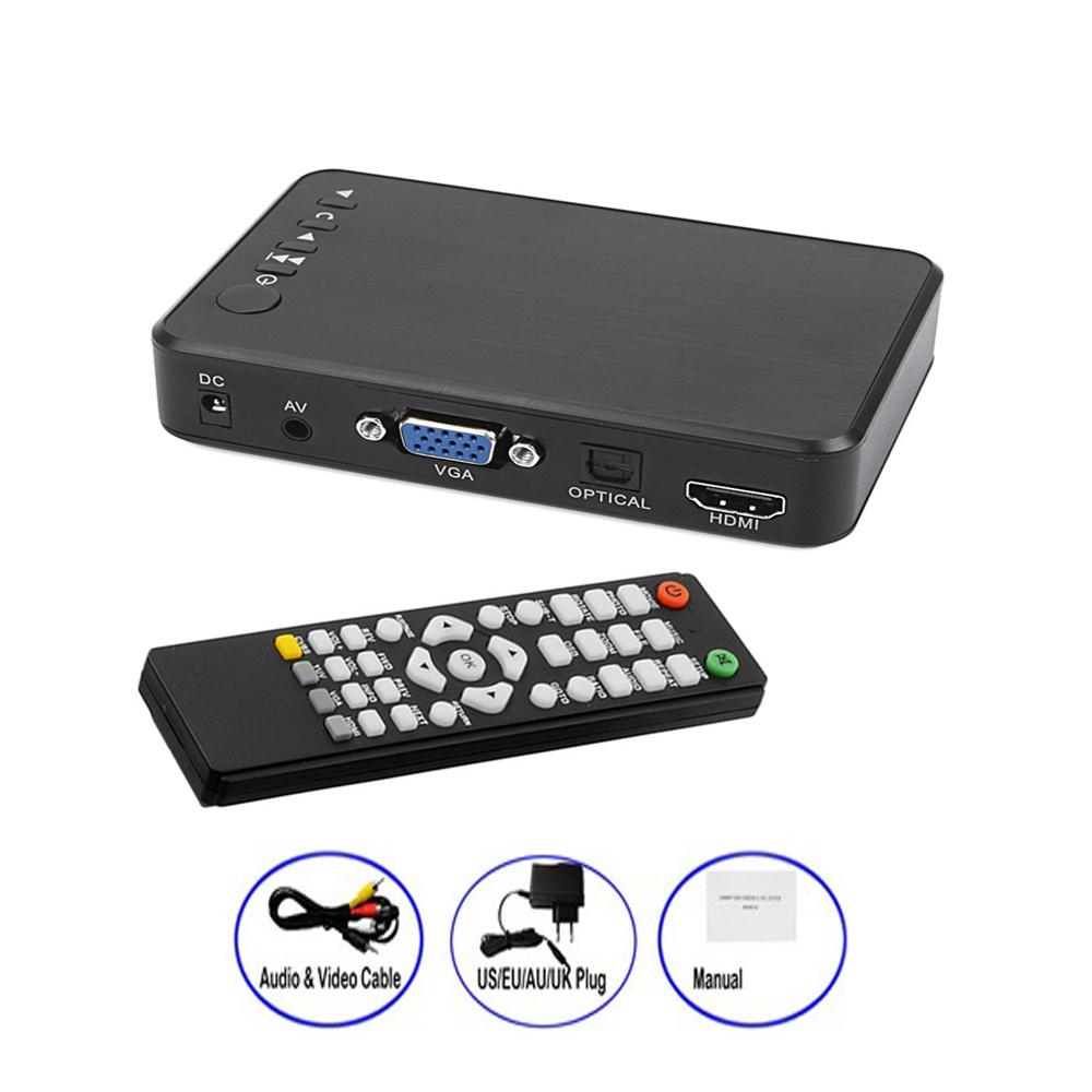 Mini Full HD Media multimedia Player Autoplay 1080P USB External HDD Media Player For SD U Disk HDMI VGA AV Output