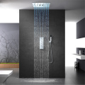 Rainfall Misty LED Shower Head Shower Faucet Set
