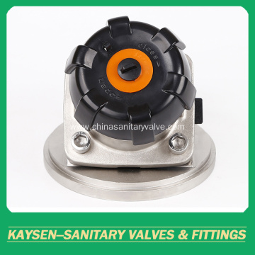 Food grade manual tank bottom diaphragm valves
