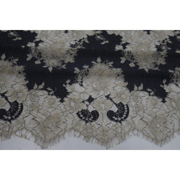Nylon Polyester  Cation Panel Lace Fabric