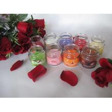 Scented Poured Glass Jar Candle with Lid