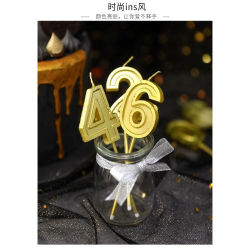 Cheap Colorful Birthday Number Candle