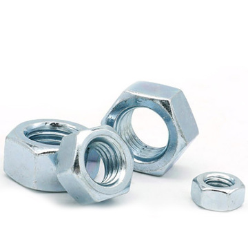 M5-M24 GB6170 Blue white zinc hexagon nut
