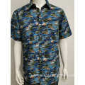 Men's  viscose tie dyed print ss shirt