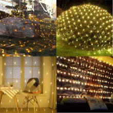 Hiasan Taman Led Lights Mesh Fairy String Lights