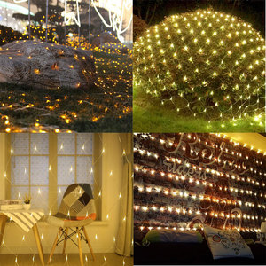 Décorations De Jardin Led Net Mesh Fairy String Lights