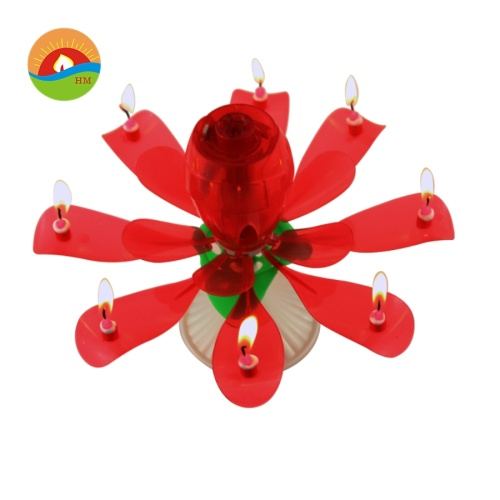 Rose music flower shape candle