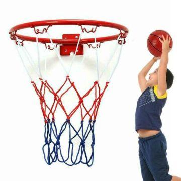 32cm Indoor Outdoor Basketball Ring Hoop Net With Screws Mounted Goal Hoop Rim Net Sports Netting For Children Kids