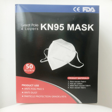 CE FDA Earloop KN95 Anti Dust Face Mask