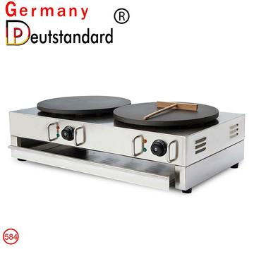 NP-584  commercial double heads crepe maker machine