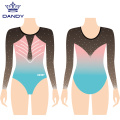 Long sleeve comp gymnastics leotard