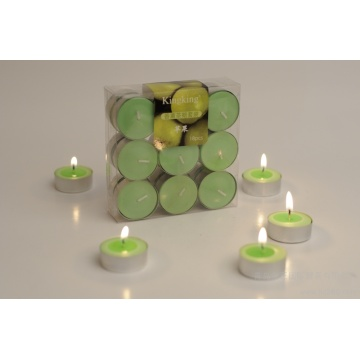 Romantic tealight color candle