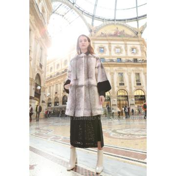 Women Reversible Cross.Mink Fur Coat