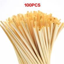 100pcs/Set Natural Wheat Straw 100% Biodegradable Straws Environmentally Friendly Drinking Straw Bar Kitchen Dropshipping