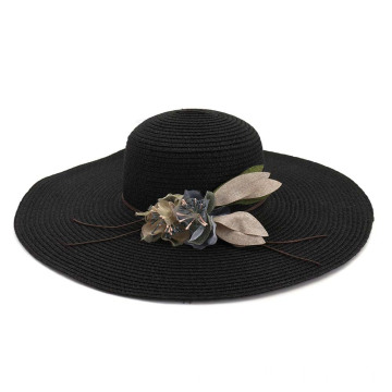 Auditions sun summer straw hat with beauty flower