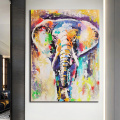Abstract Elephant Canvas Painting Printed Colorful Animals Oil Posters and Prints Wall Art Graphic Living Room Decoration