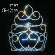 8 Inch wholesale cheap pageant crowns and tiaras