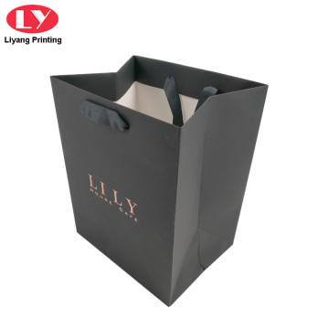 Shopping Black Paper Bag Luxury with Handles