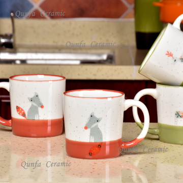 Custom Handle printed design couple ceramic mug