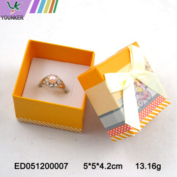 Carton Design Paper Ring Box Jewelry Box Bow