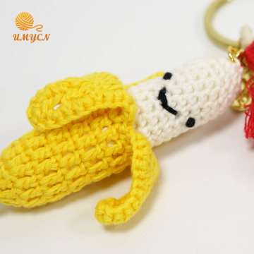 Handmade Crochet Banana Key Chain Accessories